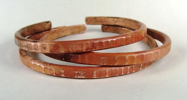 Hammered Copper Bracelet Nancy Lee Cl